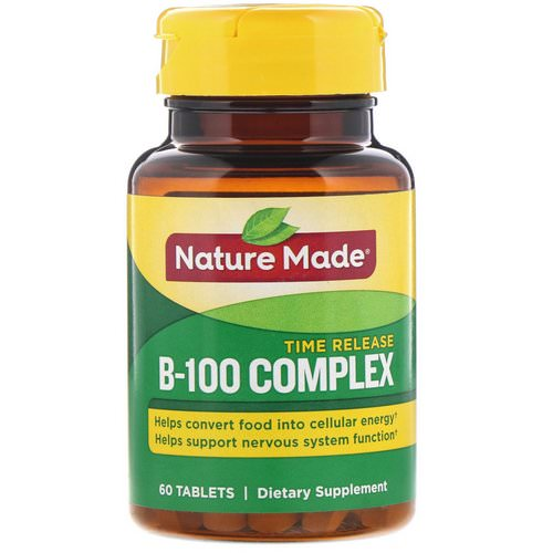 Nature Made, B-100 Complex, Time Release, 60 Tablets Review
