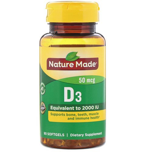 Nature Made, Vitamin D3, 50 mcg, 90 Softgels Review
