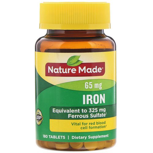 Nature Made, Iron, 65 mg, 180 Tablets Review