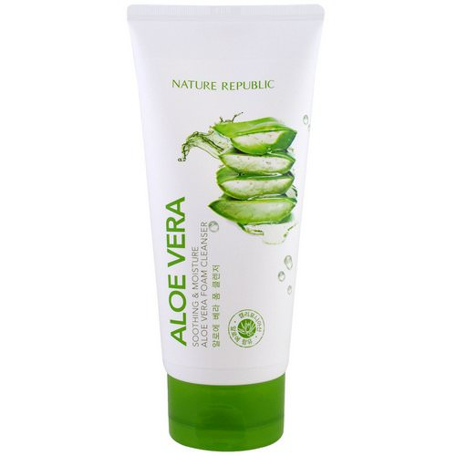 Nature Republic, Aloe Vera, Soothing & Moisture Aloe Vera Foam Cleanser, 5.07 fl oz (150 ml) Review