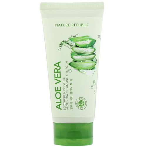 Nature Republic, Soothing & Moisture Aloe Vera Cleansing Gel Foam, 5.07 fl oz (150 ml) Review