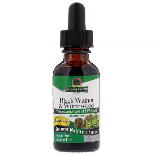 Nature's Answer, Black Walnut & Wormwood, Alcohol-Free, 2,000 mg, 1 fl oz (30 ml) Review