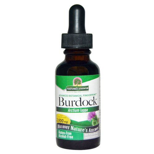 Nature's Answer, Burdock, Alcohol-Free, 2,000 mg, 1 fl oz (30 ml) Review