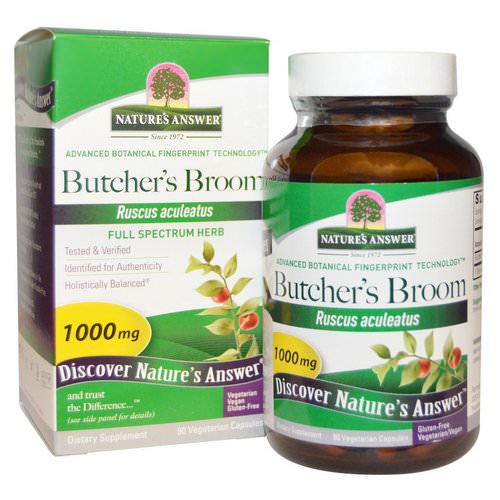 Nature's Answer, Butcher's Broom, Full Spectrum Herb, 1000 mg, 90 Vegetarian Capsules Review