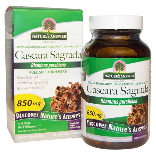 Nature's Answer, Cascara Sagrada, Full Spectrum Herb, 850 mg, 90 Vegetarian Capsules Review