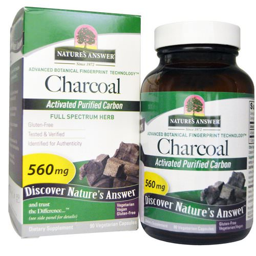 Nature's Answer, Charcoal, Activated Purified Carbon, 560 mg, 90 Vegetarian Capsules Review