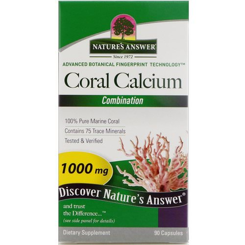 Nature's Answer, Coral Calcium, Combination, 1000 mg, 90 Capsules Review