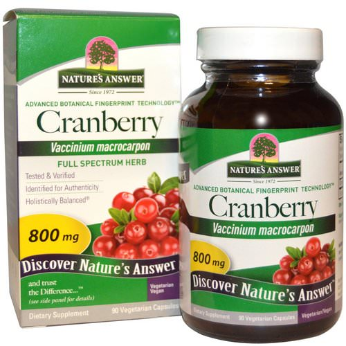 Nature's Answer, Cranberry, 800 mg, 90 Vegetarian Capsules Review