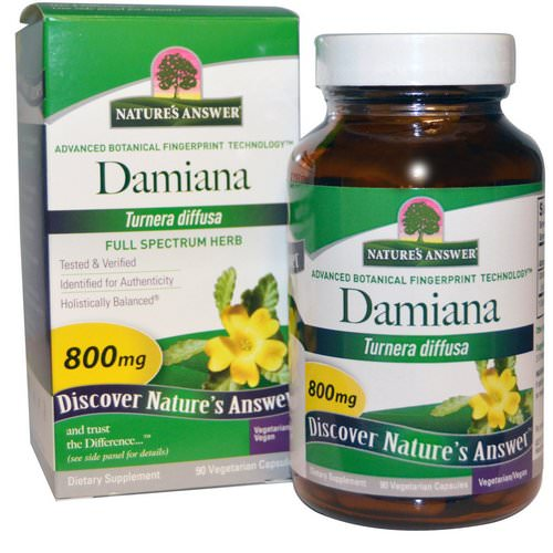 Nature's Answer, Damiana Leaf, 800 mg, 90 Vegetarian Capsules Review