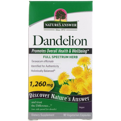 Nature's Answer, Dandelion, 1,260 mg, 90 Vegetarian Capsules Review