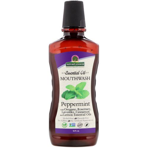 Nature's Answer, Essential Oil Mouthwash, Peppermint, 16 fl oz Review