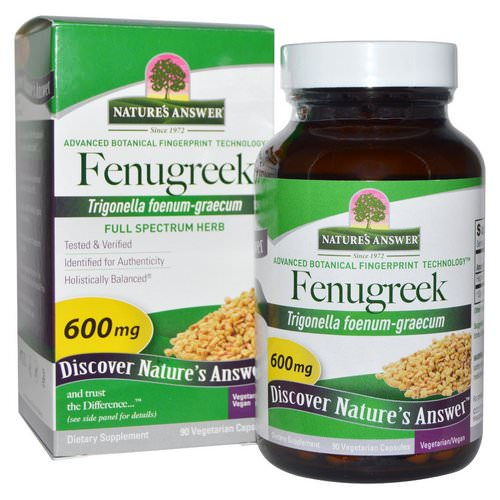 Nature's Answer, Fenugreek, 600 mg, 90 Vegetarian Capsules Review
