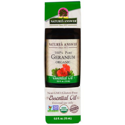 Nature's Answer, Geranium Organic Essential Oil, 0.5 fl oz (15 ml) Review
