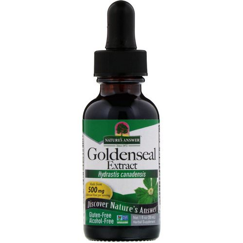Nature's Answer, Goldenseal Extract, Alcohol Free, 500 mg, 1 fl oz (30 ml) Review