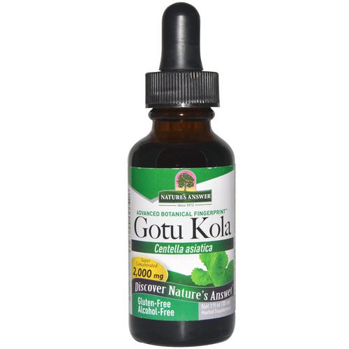 Nature's Answer, Gotu Kola, Alcohol-Free, 1 fl oz (30 ml) Review