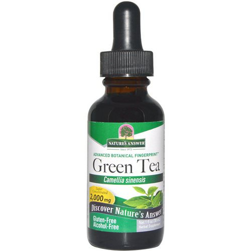 Nature's Answer, Green Tea, Alcohol-Free, 2,000 mg, 1 fl oz (30 ml) Review