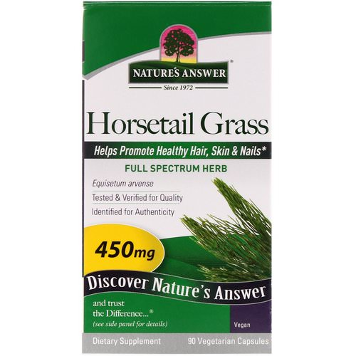 Nature's Answer, Horsetail Grass, 450 mg, 90 Vegetarian Capsules Review