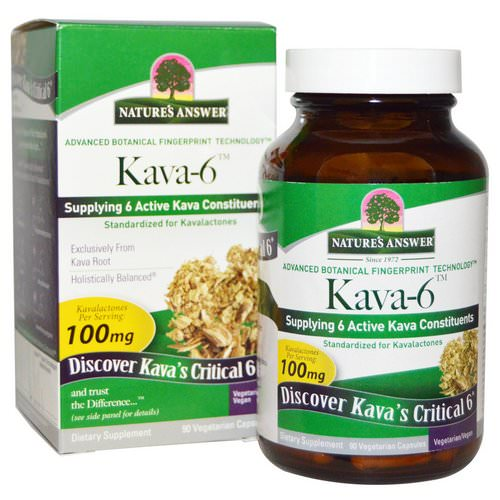 Nature's Answer, Kava-6, 90 Vegetarian Capsules Review