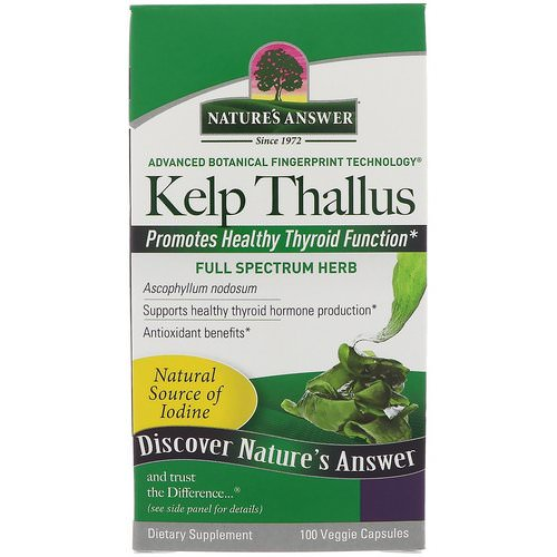 Nature's Answer, Kelp Thallus, 100 Veggie Capsules Review