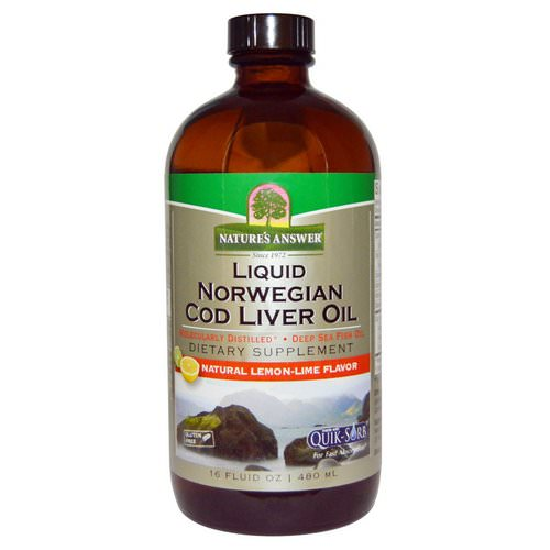Nature's Answer, Liquid Norwegian Cod Liver Oil, Natural Lemon-Lime Flavor, 16 fl oz (480 ml) Review