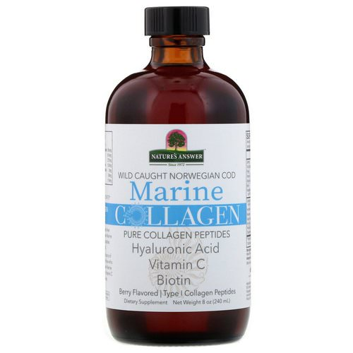 Nature's Answer, Marine Collagen, Wild Caught Norwegian Cod, Berry Flavored, 8 oz (240 ml) Review
