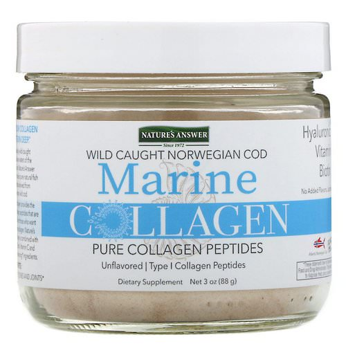 Nature's Answer, Marine Collagen, Wild Caught Norwegian Cod, Unflavored, 3 oz (88 g) Review