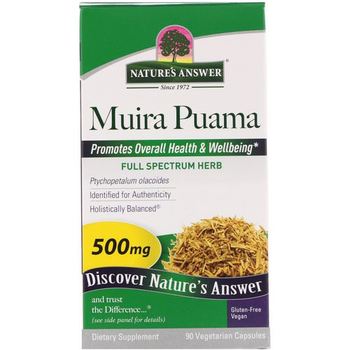 Nature's Answer, Muira Puama, 500 mg, 90 Vegetarian Capsules Review