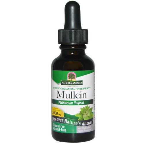 Nature's Answer, Mullein, Alcohol-Free, 2000 mg, 1 fl oz (30 ml) Review