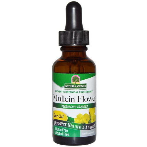 Nature's Answer, Mullein Flower, Ear Oil, Alcohol Free, 1 fl oz (30 ml) Review