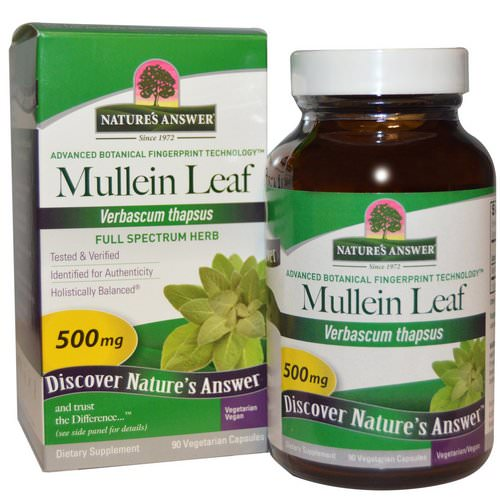 Nature's Answer, Mullein Leaf, 500 mg, 90 Vegetarian Capsules Review