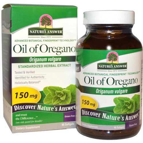 Nature's Answer, Oil of Oregano, Origanum Vulgare, 150 mg, 90 Softgels Review