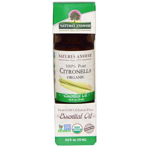 Nature's Answer, Organic Essential Oil, 100% Pure Citronella, 0.5 fl oz (15 ml) Review