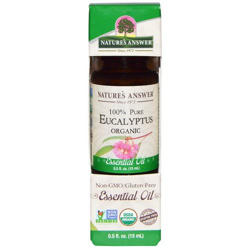 Nature's Answer, Organic Essential Oil, 100% Pure Eucalyptus, 0.5 fl oz (15 ml) Review