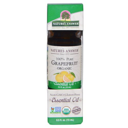 Nature's Answer, Organic Essential Oil, 100% Pure Grapefruit, 0.5 fl oz (15 ml) Review