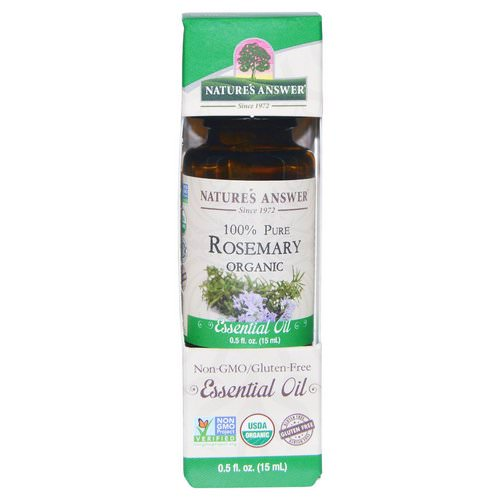 Nature's Answer, Organic Essential Oil, 100% Pure Rosemary, 0.5 fl oz (15 ml) Review
