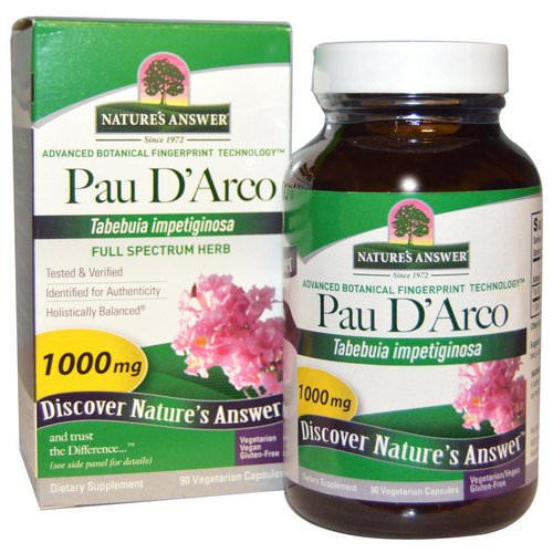 Nature's Answer, Pau D'Arco, 1000 mg, 90 Vegetarian Capsules Review
