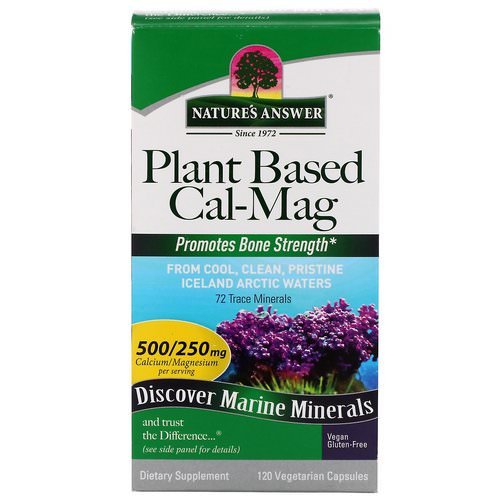 Nature's Answer, Plant Based Cal-Mag, 500/250 mg, 120 Vegetarian Capsules Review