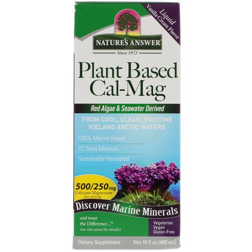 Nature's Answer, Plant Based Cal-Mag, Vanilla Cream Flavor, 16 fl oz (480 ml) Review
