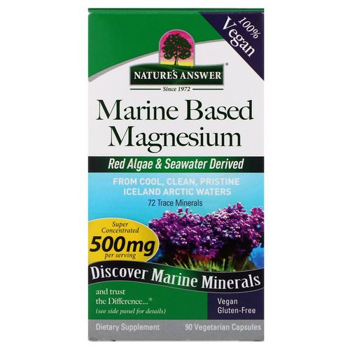 Nature's Answer, Marine Based Magnesium, 500 mg, 90 Vegetarian Capsules Review