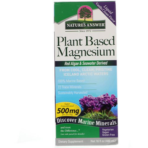 Nature's Answer, Plant Based Magnesium, Vanilla Cream Flavor, 500 mg, 16 fl oz (480 ml) Review