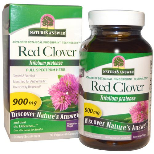 Nature's Answer, Red Clover, 900 mg, 90 Vegetarian Capsules Review