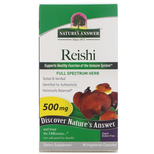 Nature's Answer, Reishi, 500 mg, 90 Vegetarian Capsules Review