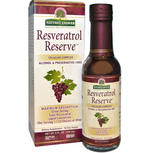 Nature's Answer, Resveratrol Reserve, Cellular Complex, 5 fl oz (150 ml) Review