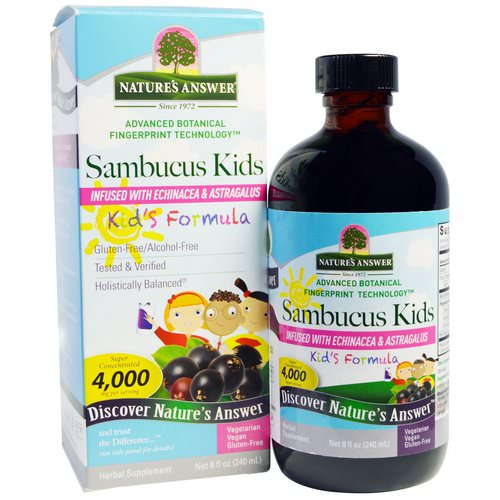 Nature's Answer, Sambucus Kid's Formula, 4,000 mg, 8 fl oz (240 ml)) Review