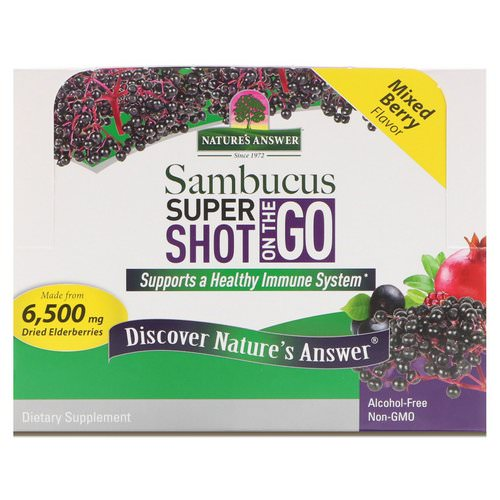 Nature's Answer, Sambucus Super Shot On The Go, Mixed Berry, 12 Pack, 2 fl oz (60 ml) Each Review