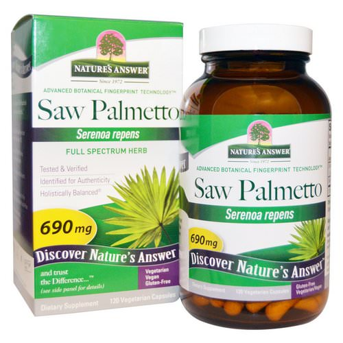 Nature's Answer, Saw Palmetto, Full Spectrum Herb, 690 mg, 120 Vegetarian Capsules Review