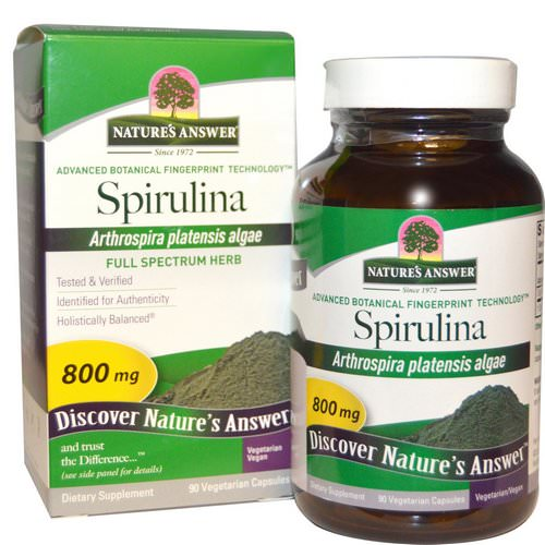 Nature's Answer, Spirulina, 800 mg, 90 Vegetarian Capsules Review
