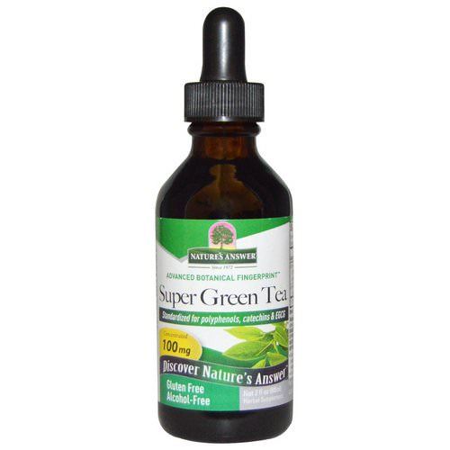 Nature's Answer, Super Green Tea, Alcohol-Free, 2 fl oz (60 ml) Review