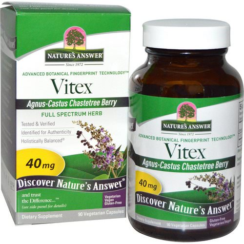 Nature's Answer, Vitex, Agnus-Castus Chastetree Berry, 90 Vegetarian Capsules Review