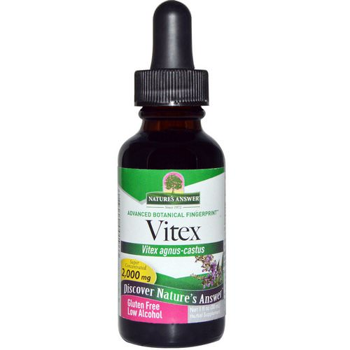 Nature's Answer, Vitex, Low Organic Alcohol, 2,000 mg, 1 fl oz (30 ml) Review